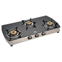 Three Burner Glass Top Gas Stove