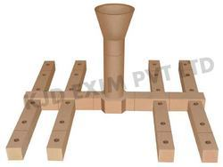 Fire Clay Fire Resistant Bottom Pouring Set, Size: 3.5 x 4.5, for Casting