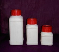 Square HDPE Bottle with Measuring Cup, Inner Plug & IS Caps