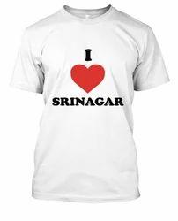 White I Love Kashmir T Shirts