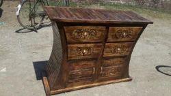质量手工艺品棕色设计师木制衣橱