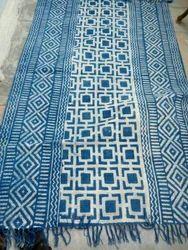 Natural Indigo Dye Dabu Print Rugs