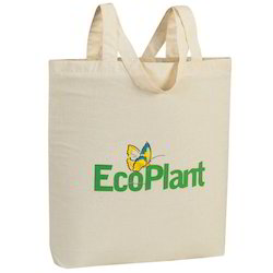 Beige And Off - White Printed Environmental Bags