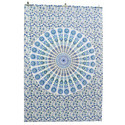 White & Blue Mandala Wall Hanging Tapestry