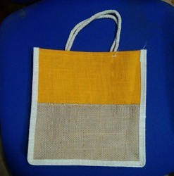 Jute Double Colour Bag