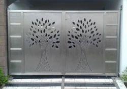 Silver Designer SS Swing Gate, For Home, Office