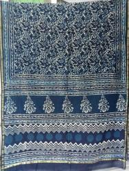 Chanderi Dabu Print Silk Saree