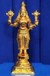 24 Karat Pure Gold Plated Danwantari Murthi