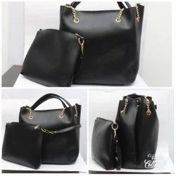 68ee98d1ef4e3 Party Wear Plain Ladies Handbags