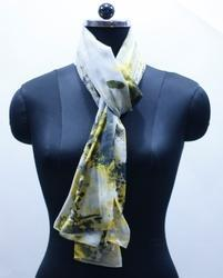 EGSC00018 Yellow Fume Print Cotton Scarf