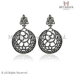 Pave Diamond Spider Filligree Earrings