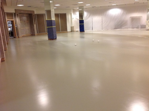Commercial Building And Educational Institute Self Leveling Flooring - Self leveling concrete as a finished floor