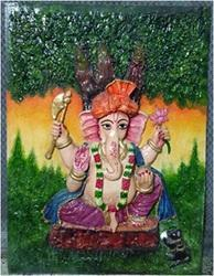 Without Frame Matte Ganpati Mural Painting, For Home Decor