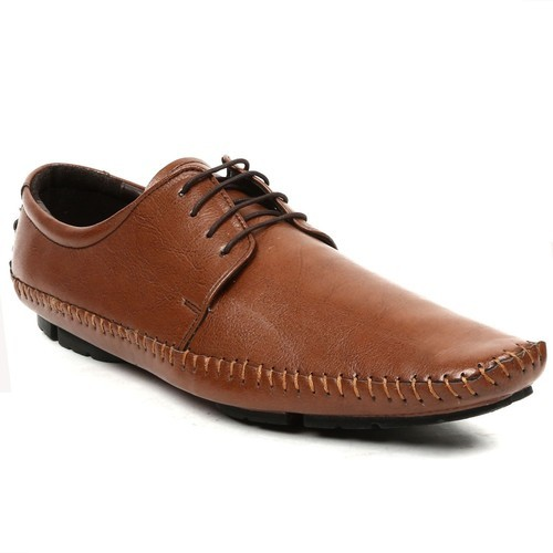 Men Brown Vegan Leather Casual Shoes