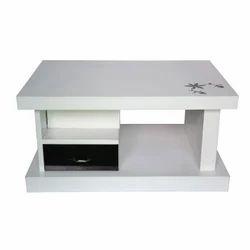 White Black Center Table
