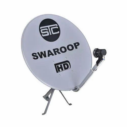 Dish Antenna - Digital Set Top Box with Wifi (White) - STC