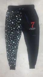 Black Printed Track Pant