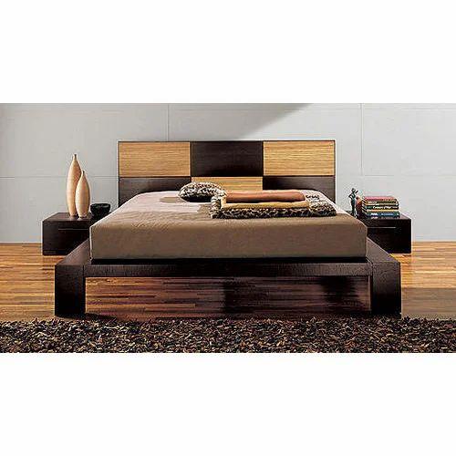 Modular Wooden Bed, Modern Wooden Beds, लकड़ी का डिज़ाइनर