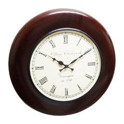 Wood Polish Carving Wall Clock
