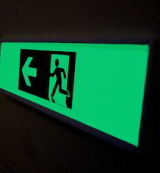 Dark Printed Tape Glow Sign