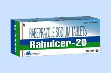 Rabulcer-20 Rabeprazole Sodium Tablets, 10 x 10 Tablets