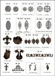 HM Steel 3D Metal Sheet Flower & Leaves, 3D Fool