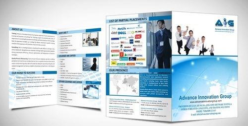 single fold brochures and catalogues printing services in sir syed