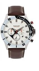 Fastrack Leather Chronograph Watch Tan