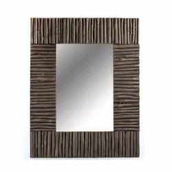 Copper Antique Weave Rectangular Mirror