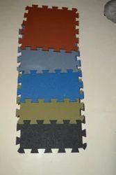 Asian Flooring Rubber Interlocking Tile, 20-25 mm, for Flooring