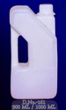 White Bhagwati Plast Center Handle Plastic Bottle, Capacity: 900 Ml And 1000 Ml, Use For Storage: Oils