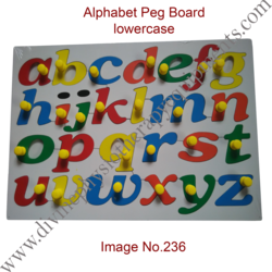 Alphabet Lowercase Peg Board