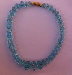 Watermelon Blue Topaz Beads
