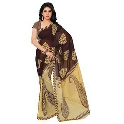 Georgette Sarees, With Blouse Piece
