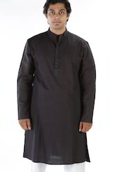 Mens Khadi Plain Long Kurta