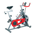 Red & Silver Manual Fitking S 900 Spin Exercise Bike, For Fitness