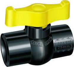 PP Solid Black Valves