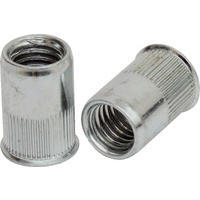 M4 Steel Reduced Head Knurled Rivet Nut