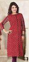 Beautiful Red Cotton Rayon Printed Kurtis