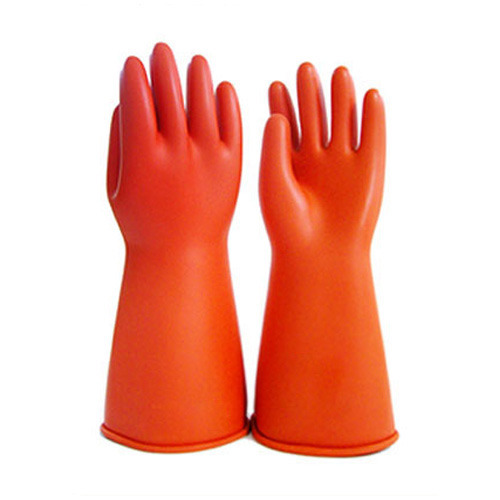 Medium And Large Electric Shock Proof Rubber Hand Gloves