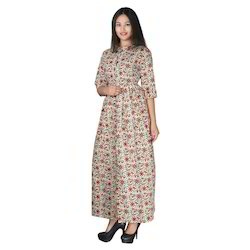 Cotton Block Printed Dress