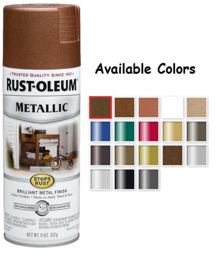 Rustoleum Metallic Spray Paint