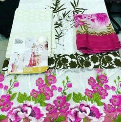 Sana Safinaz Premium Lawn Cotton Embroidered Suit