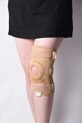 Knee Support Open Patella Hinges