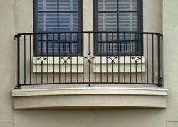 Mild Steel Black Balcony Railing