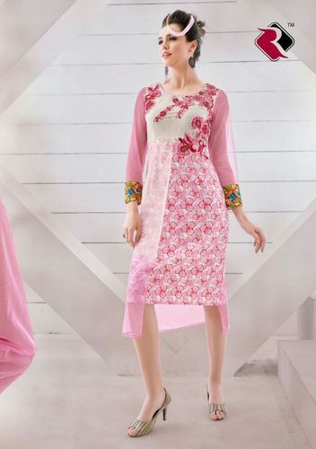 Cotton Latest Designs Of Kurti, Size: XL