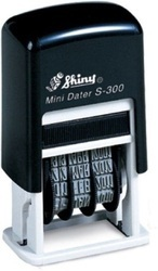 Shiny Mini Dater S-300 Self Inking Dater Stamp