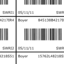 Waterproof Printed Barcode Label