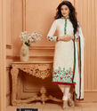 Semi-stitched Georgette Fancy Embroidery Designer Suit, Size: Medium