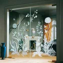Acid Wash Design Glass